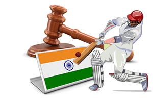 Gambling, including cricket betting is prohibited in India