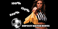 A bookmaker matches a certain percentage of the deposit amount as free money