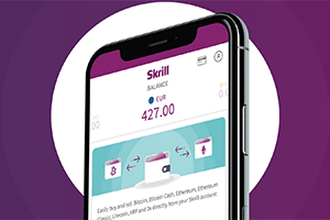 Skrill mobile app is available for Andorid and iOS devices